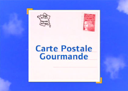 Carte postale gourmande