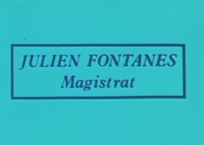 Julien Fontanes, magistrat