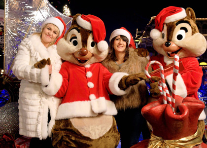Disney Party : Mickey, Valerie Damidot et Estelle Denis atteignent leur cible