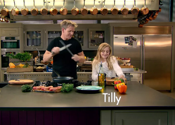 gordon ramsay sa fille de 12 ans obtient sa propre. Black Bedroom Furniture Sets. Home Design Ideas