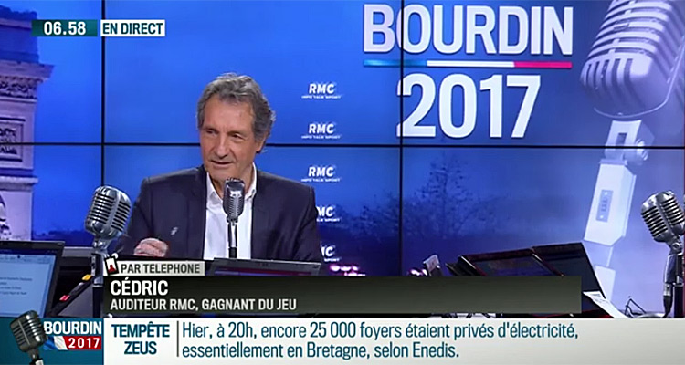 bourdin direct une audience record pour jean jacques bourdin rmc d couverte 4e chaine la plus. Black Bedroom Furniture Sets. Home Design Ideas