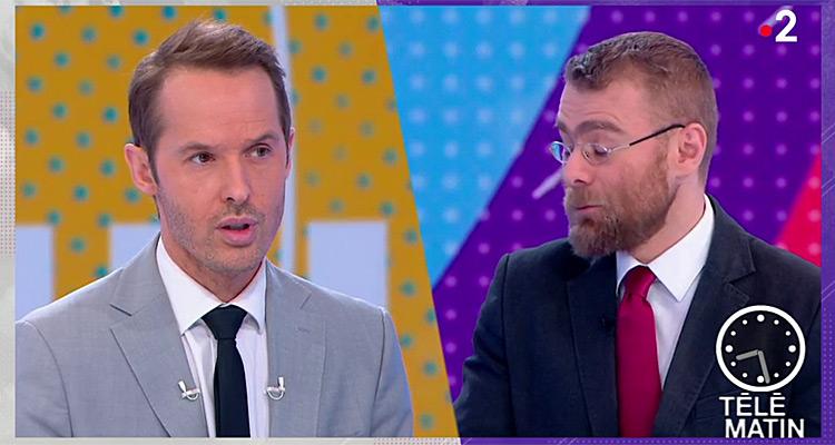 T l matin damien th venot taquin par les jo france 2 en baisse d audience toutelatele - Damien thevenot et son compagnon ...