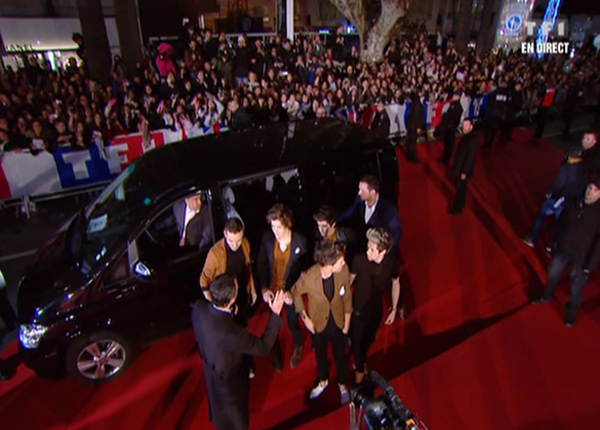 Tapis rouge pour les One Direction