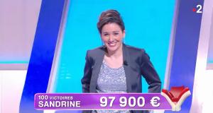 Sandrine (100e victoire dans Tout le monde veut prendre sa place): «Dépasser Marie-Christine? J'en serais estomaquée»