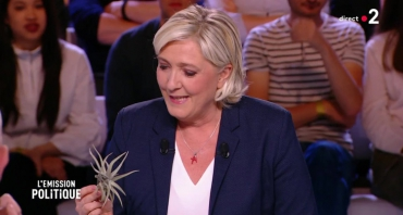 L'émission politique : la plante (tillandsia) de Marine Le Pen intrigue Léa Salamé et le public, quelle audience pour la leader du FN ?