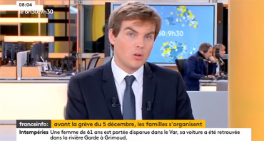 Audiences TV : Sébastien Thomas (franceinfo) talonne Romain Desarbres (CNews), BFMTV recule avec LCI