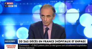 Face à l'info : Eric Zemmour accuse Jérôme Salomon, Christine Kelly en baisse d'audience