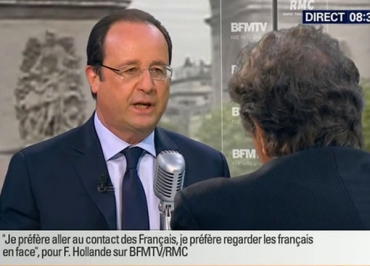 L'interview de François Hollande double l'audience de Jean-Jacques Bourdin et BFM TV
